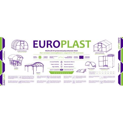 Сотовый поликарбонат прозрачный Европласт