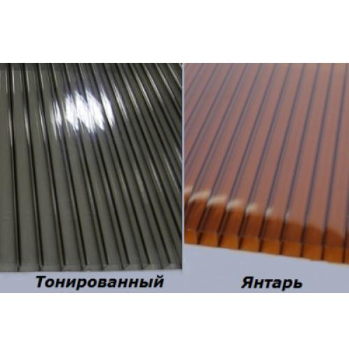 Сотовый поликарбонат 4 мм (бронза)